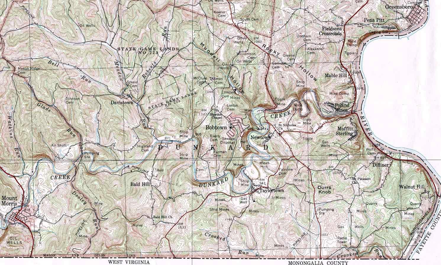 Greene County Pagenweb Maps